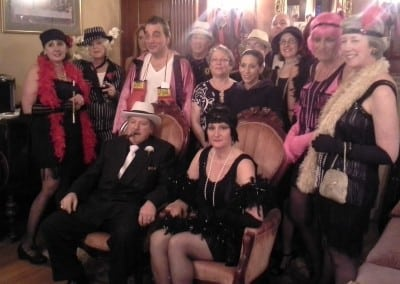 Here is a group that took part in our 1920s themed murder mystery even. Unlike other durham NH area hotels, we offer a great selection of events to take part in.
