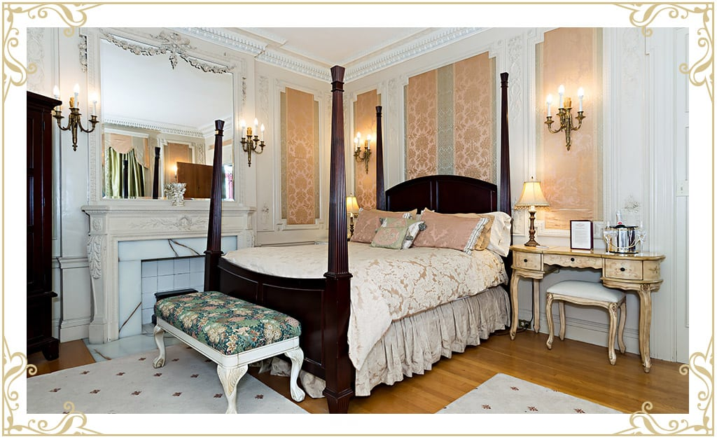 If you're looking for hotels in Dover NH area, you'll want to check out Silver Fountain Inn. This room is The Boudoir.