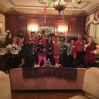 Here is a picture of guests involved in one of our themed murder mystery parties. The group is dressed in circus outfits. This is just one event held at our hotel dover nh.