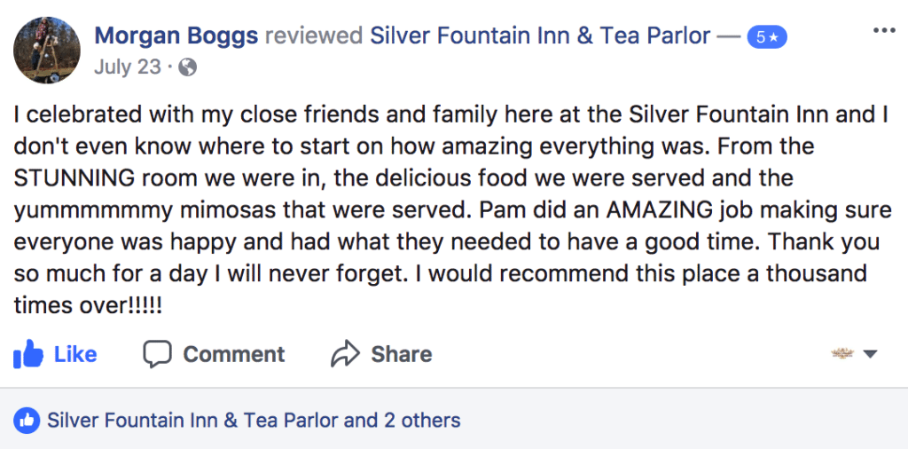 Facebook review from Morgan about our Dover NH area hotel