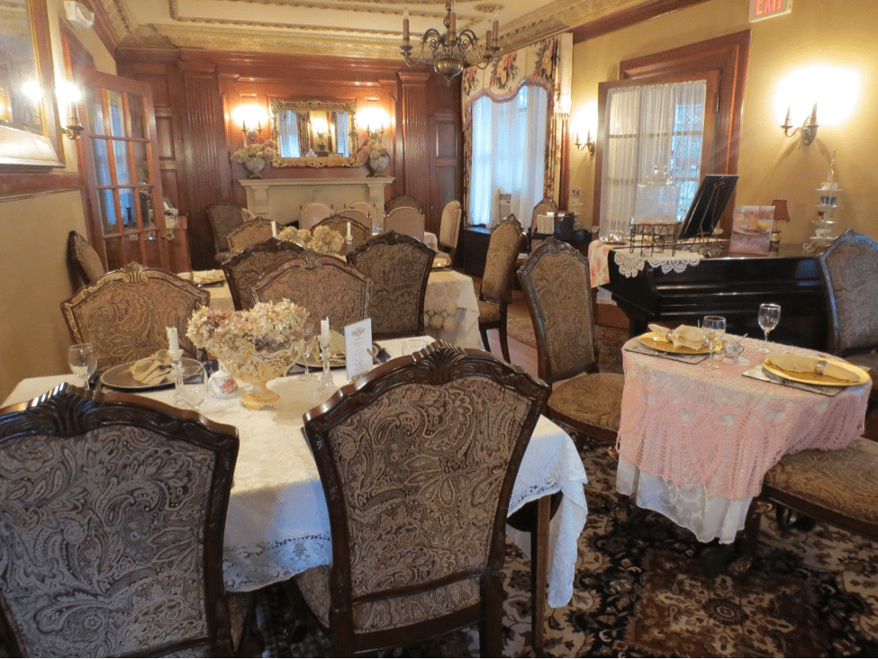 We're one of the only hotels in Dover NH to offer a beautiful tea parlor, pictured here.