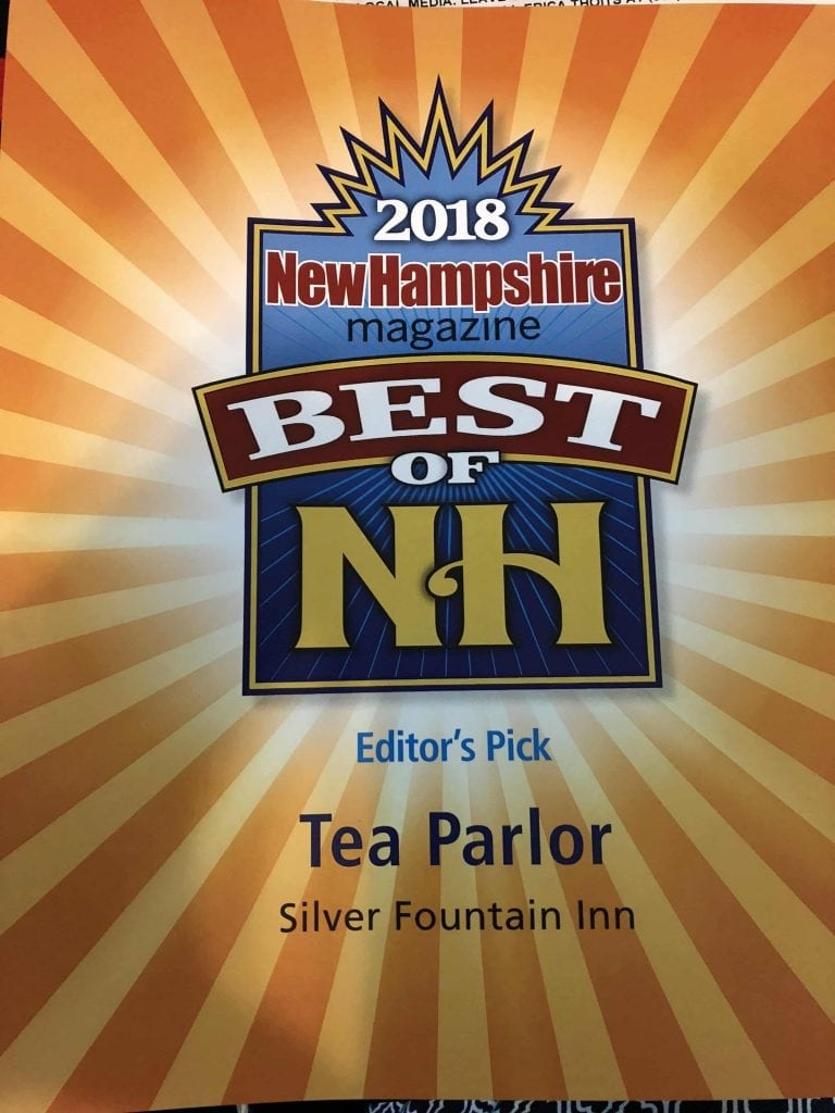 Best Tea Parlor in NH 2018 New Hampshire Magazine