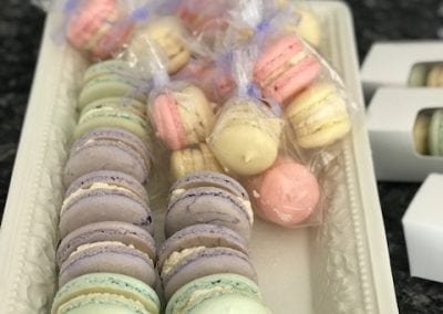 Little macarons in an assortment of colors
